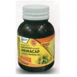 PRIMACAP Evening Primrose Oil 500 mg.(น้ำมันอีฟนิ่งพริมโรส) ช่วยบำรุงผิวพรรณ 60 Capsules 1 ขวด