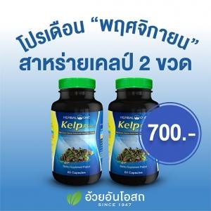 โปรโมชั่น สาหร่าย Kelp 2 ขวด