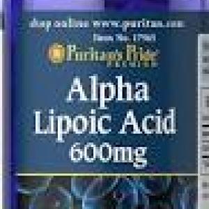 Puritan's Pride Alpha Lipoic Acid 600 mg / 60 Softgels