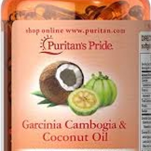 Puritan's Pride Garcinia Cambogia 500 mg plus Coconut Oil 500mg / 60 Softgels