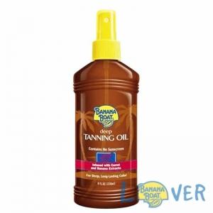 แทนนิ่งออยเปลี่ยนสีผิวแทนทองเร็วพิเศษ Banana Boat Deep Tanning Oil SPF0 236 ml