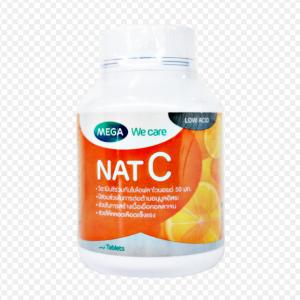 Mega We Care nat C (วิตามินซี) 1000 mg 30 แคปซูล
