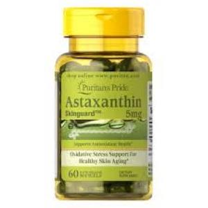 Puritan's Pride Skinguard™ Natural Astaxanthin 5 mg / 60 Softgels