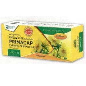 PRIMACAP Evening Primrose Oil 500 mg.(น้ำมันอีฟนิ่งพริมโรส) ช่วยบำรุงผิวพรรณ 30 Capsules 2 กล่อง