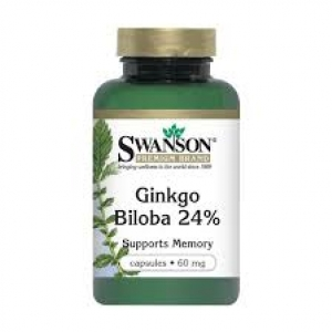 Swanson Premium Ginkgo Biloba Extract 24% - 60 mg / 240 Caps