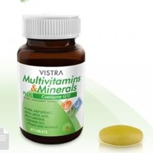 Vistra Multivit 30's - Vistra Multivitamins & Minerals วิสทร้า มัลติวิตามิน และ แร่ธาตุผสม