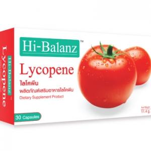Hi-Balanz Lycopene 60 mg. 30 Capsules ซื้อ2กล่อง ส่งฟรี EMS ผลิตภัณฑ์เสริมอาหารไลโคพีน สารสกัดเข้มข้นจากมะเขือเทศบำรุงผิวใส ปกป้องผิวจากรังสี UVA และ UVB