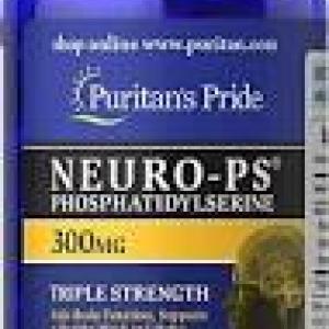 Puritan's Pride Neuro-PS 300 mg (Phosphatidylserine)-30 Softgels