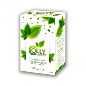 Colly Chlorophyll Plus Fiber คอลลี่ คลอโรฟิลล์ พลัส ไฟเบอร์ สารสกัดคลอโรฟิลล์กลิ่นหอมชาเขียว ล้างสารพิษ ผิวสวยจากภายใน