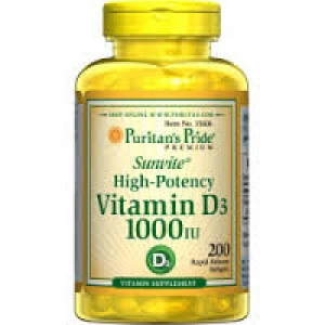 Puritan's Pride Vitamin D3 1000 IU / 200 Softgels