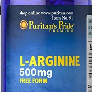 Puritan's Pride L-Arginine 500 mg / 100 Capsules