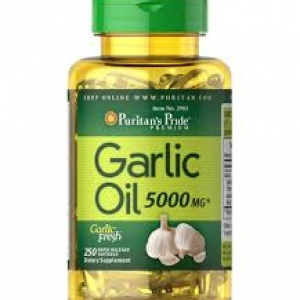 Puritan's Pride Garlic Oil 5000 mg. / 250 Rapid Release Softgels