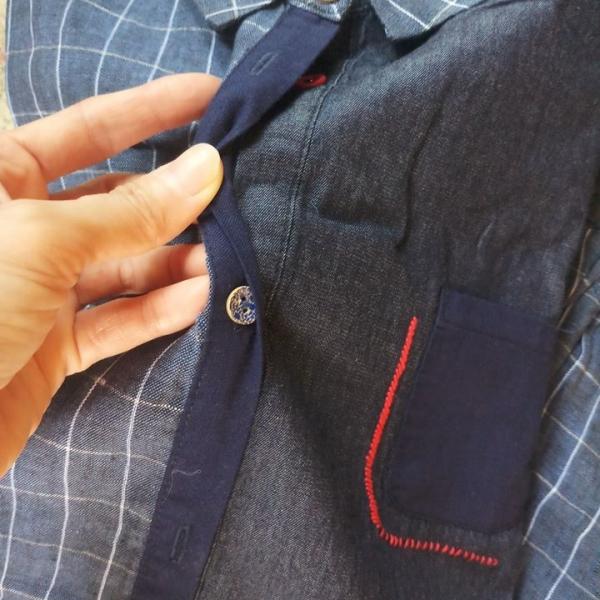 รูปภาพสินค้า Sunnycoolstuff เสื้อเชิ้ตลินินรุ่น Sofuto สีกรมท่า
