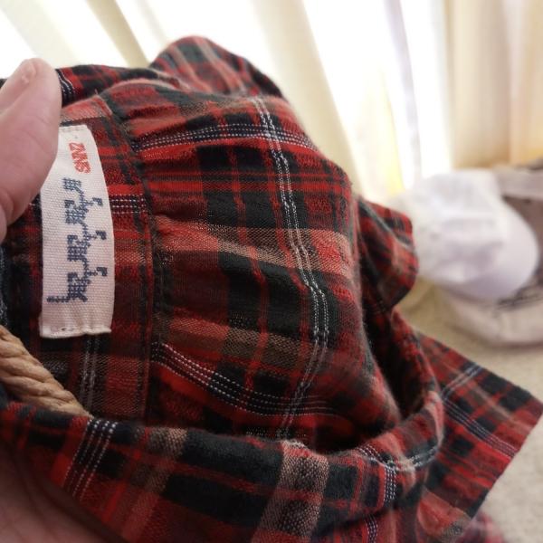 รูปภาพสินค้า เดรสเชิ้ตวันพีซ ผ้าฝ้ายลายสก้อต สไตล์ญี่ปุ่น สีแดง