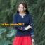 UM6102018 เสื้อยืดแขนยาวโมฮีเมียนสีดำและแดง เย็บปักถักร้อยชาติพันธุ์ thumbnail 3