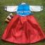 Hanbok Girl ฮันบกผ้าไหมอย่างดีสีฟ้าสดใส สำหรับเด็ก 3 ขวบ thumbnail 4