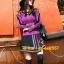 UM6102011 เสื้อยืดแขนยาวโมฮีเมียนสีม่วง เย็บปักถักร้อยชาติพันธุ์ thumbnail 2
