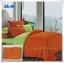 ผ้าปูที่นอนสีพื้น เกรด A สีส้มเข้ม ขนาด 5 ฟุต 5 ชิ้น thumbnail 1