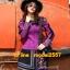 UM6102011 เสื้อยืดแขนยาวโมฮีเมียนสีม่วง เย็บปักถักร้อยชาติพันธุ์ thumbnail 3