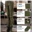 HW6107004 กางเกงทหารหญิงทรงหลวมสีเขียวกองทัพ(พรีออเดอร์) รอ 3 อาทิตย์หลังโอนเงิน thumbnail 4