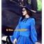 UM6102010 เสื้อยืดแขนยาวโมฮีเมียนสีฟ้า เย็บปักถักร้อยชาติพันธุ์ thumbnail 4