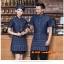 F6012014 เสื้อฟอร์มพนักงานเครื่องแบบชุดฟอร์มพนักงานร้านอาหารกาแฟโรงแรม แขนสั้นผ้าฝ้ายกระดุมหน้า thumbnail 1