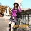 UM6102011 เสื้อยืดแขนยาวโมฮีเมียนสีม่วง เย็บปักถักร้อยชาติพันธุ์ thumbnail 4