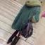 QW6011002 เสื้อคลุมกันหนาวไหมถักสีเขียวเด่นมีฮูด(พรีออเดอร์) รอ 3 อาทิตย์หลังโอน thumbnail 2