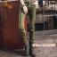HW6107004 กางเกงทหารหญิงทรงหลวมสีเขียวกองทัพ(พรีออเดอร์) รอ 3 อาทิตย์หลังโอนเงิน thumbnail 1
