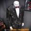 JM6102010 เสื้อสูทลำลองผู้ชายเสื้อสูทงานเลี้ยงพิมพ์ลายแบบตะวันตก thumbnail 3