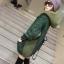 QW6011002 เสื้อคลุมกันหนาวไหมถักสีเขียวเด่นมีฮูด(พรีออเดอร์) รอ 3 อาทิตย์หลังโอน thumbnail 1