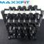 ชุดดัมเบล MAXXFiT ทรงเหลี่ยม ขนาด 2 - 20 KG. (10 คู่) พร้อมชั้นวาง 4 ชั้น สีดำ thumbnail 6