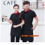 F6012018 เสื้อฟอร์มพนักงานเครื่องแบบชุดฟอร์มพนักงานร้านอาหารกาแฟโรงแรม แขนสั้นผ้าฝ้ายกระดุมหน้า thumbnail 1