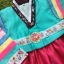 Hanbok Girl ฮันบกผ้าไหมสีสดใส สำหรับเด็ก 7 ขวบ thumbnail 2