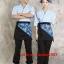 F6101008 ชุดผ้าฝ้ายซูชิกิโมโนสไตร์ญี่ปุ่น สำหรับห้องอาหารญี่ปุ่นเกาหลี เสื้อพนักงานต้อนรับ thumbnail 4