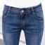 JH6101001 กางเกงยีนส์ สไตร์สาวเกาหลี ขา 5 ส่วน แต่งลูกปัด thumbnail 2