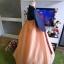 Hanbok สีกรมท่าตัดส้มปักมือดิ้นทอง เด็กโต สูง 150 thumbnail 3