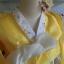"Hanbok เหลืองตัดขาว XS อก34"" สูง 150 thumbnail 3"