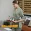 S6102011 ชุดพนักงานนวดสปา ชุดพนักงานเสริมสวย ชุดทำงาน ชุดสูท แขนยาว thumbnail 3