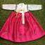 Hanbok Girl ฮันบกผ้าไหมสีหวาน สำหรับเด็ก 5 ขวบ thumbnail 1