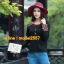 UM6102014 เสื้อยืดแขนยาวโมฮีเมียนสีดำและแดง เย็บปักถักร้อยชาติพันธุ์ thumbnail 2