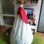 """Hanbok สีแดงขาวปักมือ อก 40"""" สูง 163 thumbnail 4"""