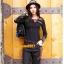 UM6102008 เสื้อยืดแขนยาวโมฮีเมียนสีดำ เย็บปักถักร้อยชาติพันธุ์ thumbnail 2