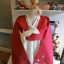 "Hanbok สีแดงตัดขาว อก 38"" สูง 160 thumbnail 2"