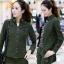 HW6010001 กางเกงทหารหญิงฤดูใบไม้ผลิและฤดูร้อนสีเขียวกองทัพ(พรีออเดอร์) รอ 3 อาทิตย์หลังโอนเงิน thumbnail 2