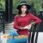 UM6102014 เสื้อยืดแขนยาวโมฮีเมียนสีดำและแดง เย็บปักถักร้อยชาติพันธุ์ thumbnail 1