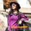 UM6102011 เสื้อยืดแขนยาวโมฮีเมียนสีม่วง เย็บปักถักร้อยชาติพันธุ์ thumbnail 1