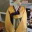 "Hanbok ส้มตัดเขียวปักมือดิ้นเงิน อก 37"" สูง 165 thumbnail 2"