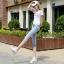 JH6001002 กางเกงยีนส์ สไตร์สาวเกาหลี ขา 5 ส่วน เข้ารูป thumbnail 4