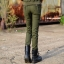 HW6107006 กางเกงขายาวทหารหญิงสีเขียวกองทัพทหาร แฟชั่นเกาหลี (พรีออเดอร์) รอ 3 อาทิตย์หลังโอนเงิน thumbnail 3
